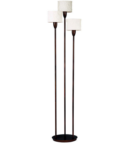 Kenroy Lighting Crush 3 Light Torchiere in Oil Rubbed Bronze   30673ORB photo