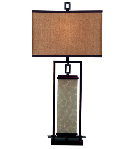 Kenroy Lighting Plateau 1 Light Table Lamp In Oil Rubbed Bronze 30740orb