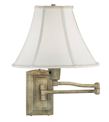 Kenroy Lighting Isabelle 1 Light Swing Arm Wall Lamp In Seagrass 30950sgr