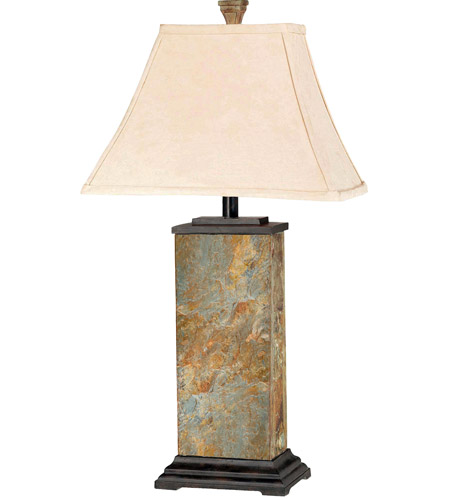 Kenroy Lighting 31202 Bennington 29 inch 100 watt Natural Slate Table Lamp Portable Light photo