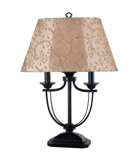 Kenroy Lighting 31365ORB Belmont 28 inch 60 watt Oil Rubbed Bronze Outdoor Table Lamp photo