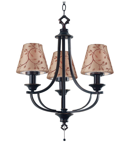 Kenroy Lighting Belmont 3 Light Outdoor Chandelier in Oil Rubbed Bronze   31367ORB photo