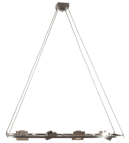 Kenroy Lighting Geometry 4 Light Island in Brushed Steel   31600BS photo