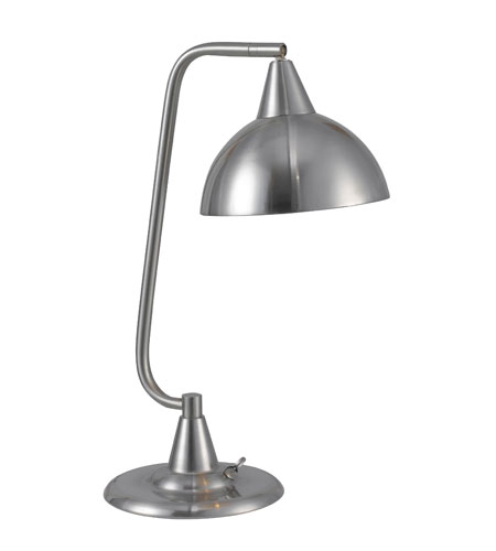 Kenroy Lighting Hanger 1 Light Desk lamp in Brushed Steel   32003BS photo