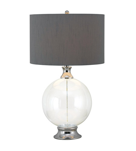 Kenroy Lighting Celestial 1 Light Table Lamp in Glass with Chrome  Accent  32024GCH photo