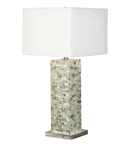 Kenroy Lighting 32025MOP Pearl 30 inch 150 watt Mother of Pearl Table Lamp Portable Light photo