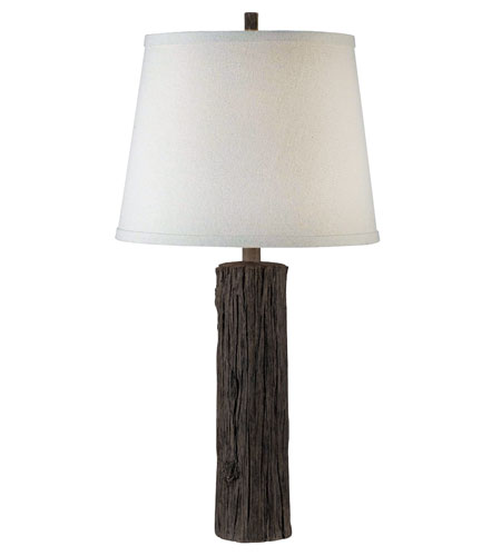 Kenroy Lighting Adirondack 1 Light Table Lamp in Wood Grain   32040WDG photo