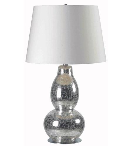 Kenroy Lighting 32041CHCR Mercurio 28 Inch 150 Watt Chrome Crackled Glass  Table Lamp Portable Light