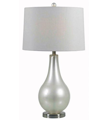 Kenroy Lighting Teardrop 1 Light Table Lamp in Pearlized White   32043PWH photo