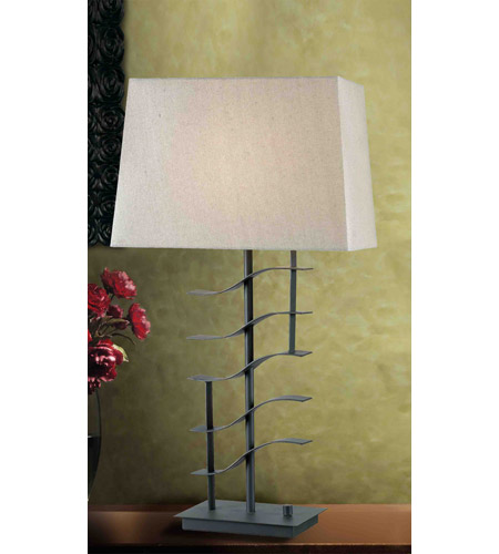 Kenroy Lighting Flume 1 Light Table Lamp in Graphite   32111GRPH photo