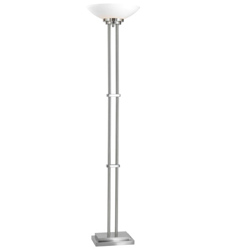 Kenroy Lighting Halstead 1 Light Torchiere in Brushed Steel   32122BS photo