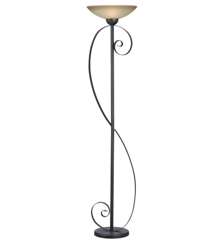 Kenroy Lighting Galaxy 1 Light Torchiere in Oil Rubbed Bronze   32131ORB photo
