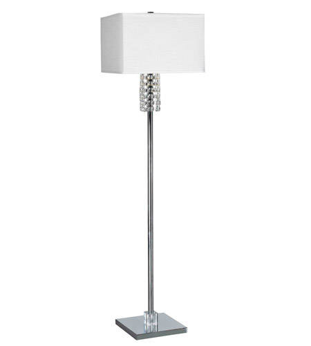Kenroy Lighting Bedazzle 1 Light Floor Lamp in Chrome   32139CH photo