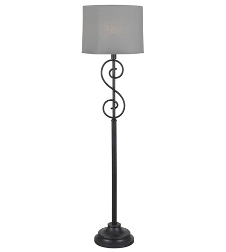 Kenroy Lighting Clifford 1 Light Outdoor Floor Lamp in Forged Graphite   32160FGRPH photo