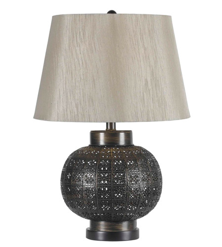 Kenroy Lighting Seville 1 Light Table Lamp in Aged Bronze   32163ABR photo