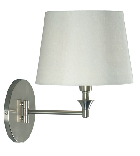 Kenroy Lighting Martin 1 Light Swing Arm Wall Lamp in Brushed Steel   32180BS photo