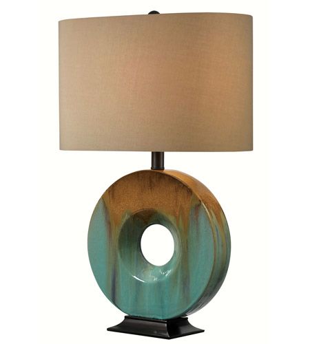 Kenroy Lighting 32184CG Sesame 23 inch 150 watt Teal Ceramic Glaze Table Lamp Portable Light photo