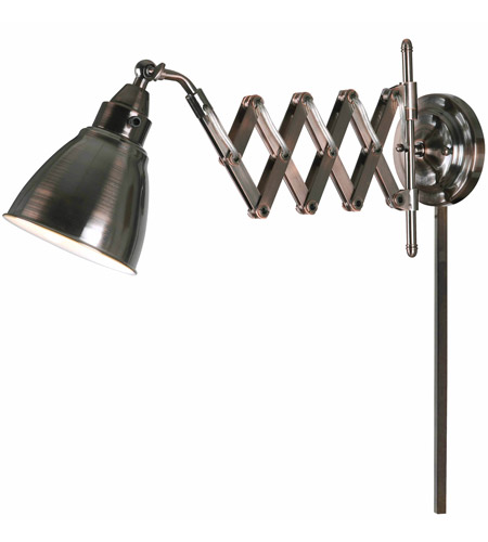 Kenroy Lighting 32197cbz Floren 24 Inch 60 Watt Copper Bronze Wall Swing Arm Lamp Light