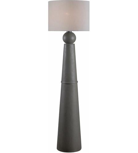 Parque 61 inch 100 watt dark concrete outdoor floor lamp for 100 floor level 61