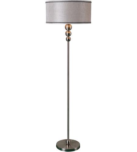 Margot 58 inch 150 watt brushed steel floor lamp portable for 150 watt floor lamp
