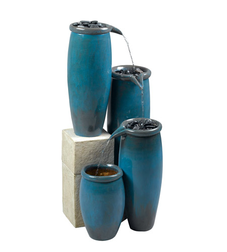 Kenroy Lighting Agua Floor Fountain in Blue Glaze   50008BG photo