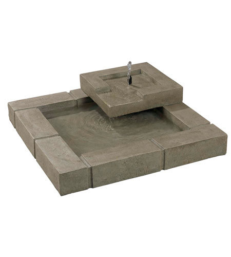 Kenroy Lighting 50184SS Belgian Block Sandstone Outdoor Floor Fountain photo