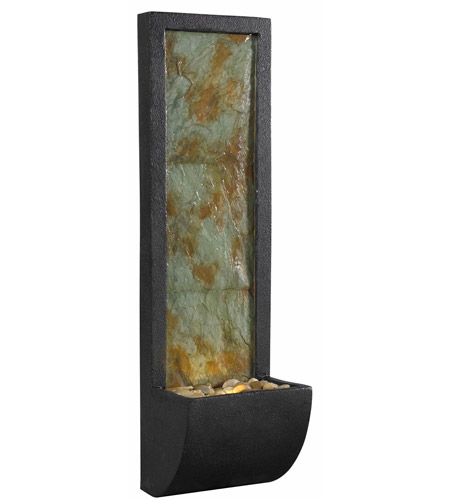 Kenroy Lighting 50200SL Walla Natural Slate/Oil Rubbed Bronze Wall Fountain Home Decor photo