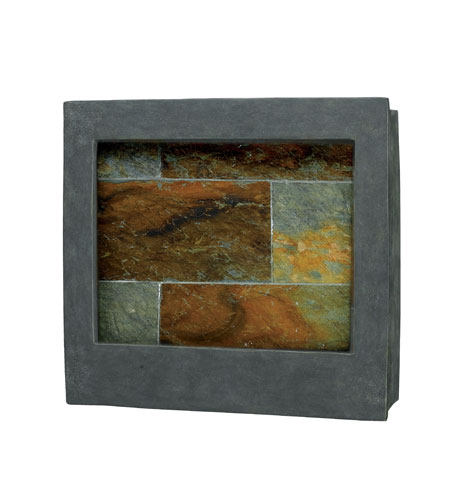 Kenroy Lighting 50236SL Eagle Square Natural Slate Square Indoor Wall Fountain photo