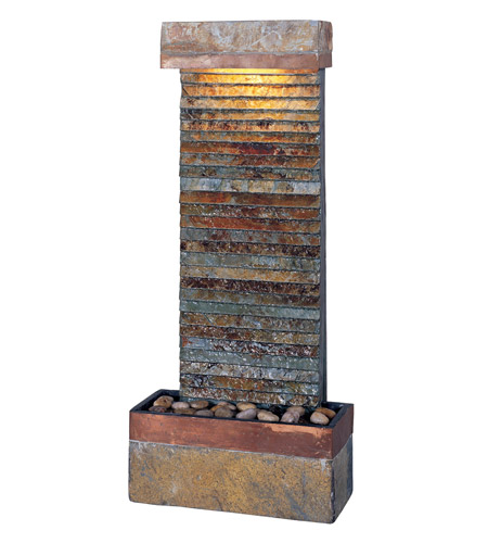 Kenroy Lighting Tacora Horizontal 1 Light Fountain in Natural Slate  with Copper Accents  50290SLCOP photo