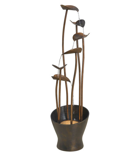 Kenroy Lighting Leaves 1 Light Floor Fountain in Aged Copper Bronze   50332ACB photo