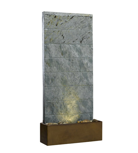 Kenroy Lighting Brook 1 Light Table Fountain in Natural Slate   50620SL photo