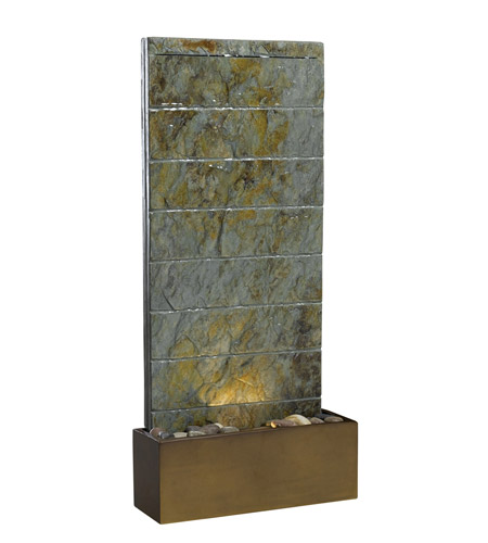 Kenroy Lighting 50621SL Brook 12v 10 watt Natural Slate Indoor/Outdoor Floor Fountain photo