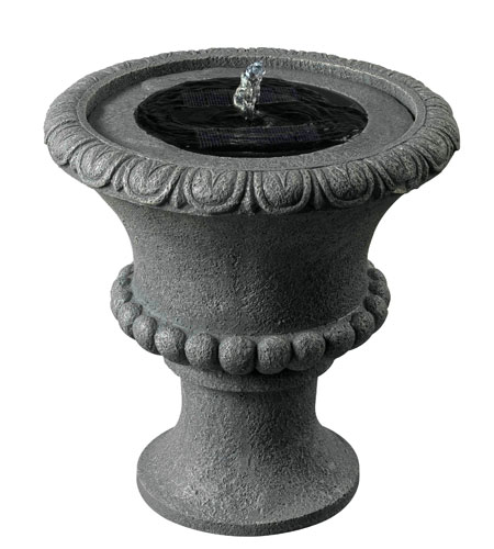 Kenroy Lighting Solar Urn Fountain in Concrete   51002CON photo