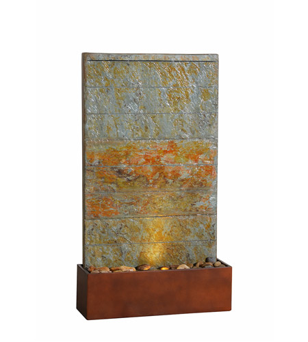 Kenroy Lighting 51020SLCOP Stream Natural Slate and Natural Copper Floor Fountain photo