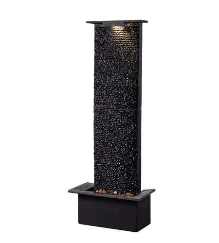 Kenroy Lighting 51035BLSL Alluvium Black Floor Fountain photo