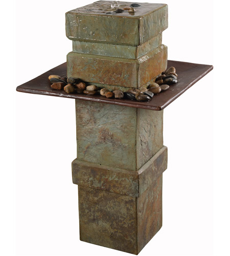 Kenroy Lighting 51049sl Pilaster Slate Floor Fountain