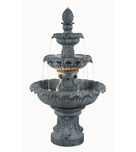 Kenroy Lighting Costa Brava 2 Light Outdoor Fountain in Zinc   53200ZC photo