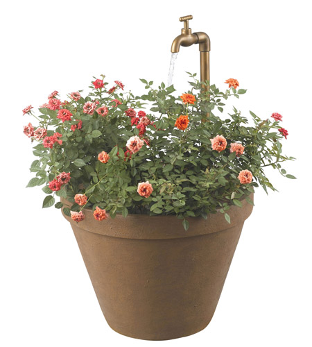 Kenroy Lighting Full Bloom 1 Light Outdoor Fountain in Terra Cotta   53220TC photo