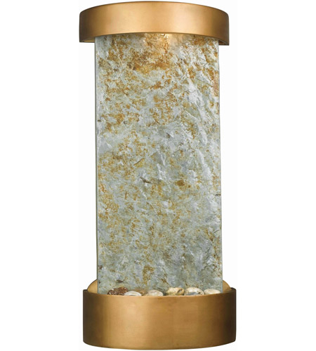 Kenroy Lighting Midstream 1 Light Table/Wall Fountain in Natural Slate with Copper  Accents  53238SL photo