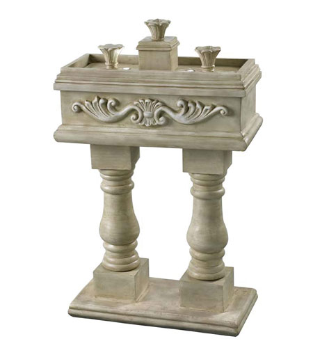 Kenroy Lighting 53240WS Veranda Weathered Stone Finish Outdoor Floor Fountain photo