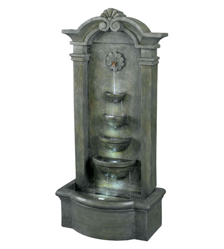 Kenroy Lighting Sienna 4 Light Floor Fountain in Mossy Stone   53245MS photo