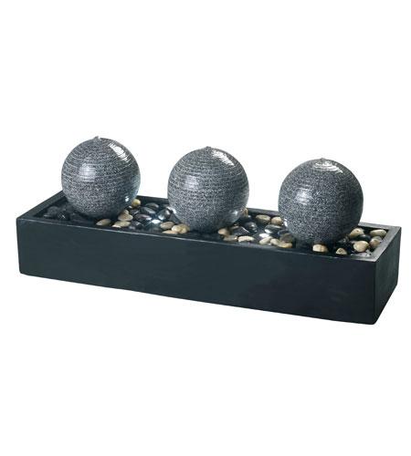 Kenroy Lighting Bocce Black Finish with Gray Granite Finish Orbs Decorative Items 53251BL photo