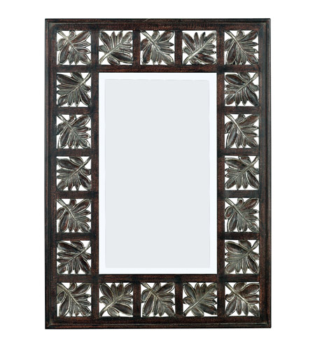Kenroy Lighting 60005 Foliage 32 X 23 inch Dark Walnut  with Silver Accents Wall Mirror photo