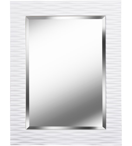 Kenroy Lighting Kendrick Wall Mirror in Gloss White   60024 photo