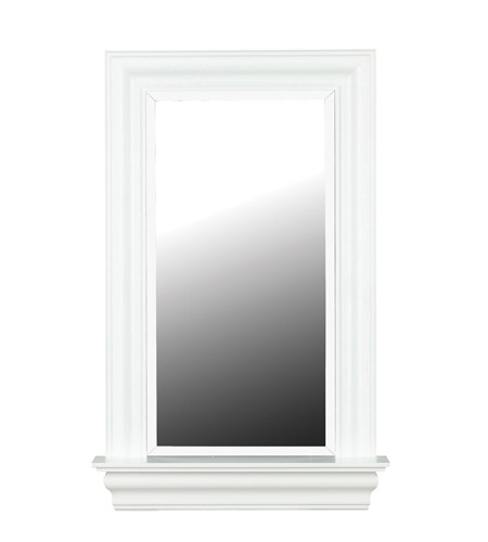 Kenroy Lighting 60028 Juliet 37 X 24 inch White Gloss Wall Mirror Home Decor photo