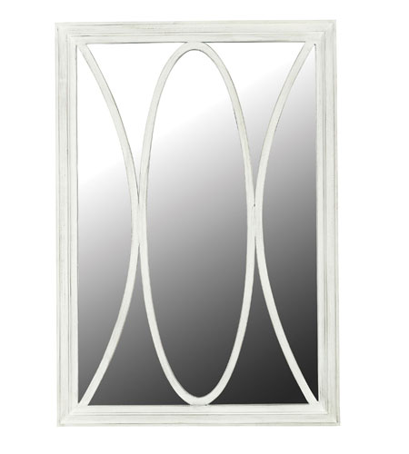 Kenroy Lighting Portico Wall Mirror in White Distressed   60029 photo