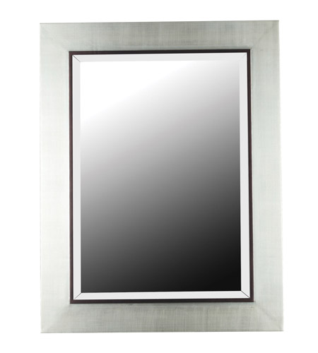Kenroy Lighting Dolores Wall Mirror in Silver  with Black Trim Accent  60039 photo