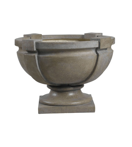 Kenroy Lighting Square Strap Urn Urn in Tuscan Earth   60075 photo