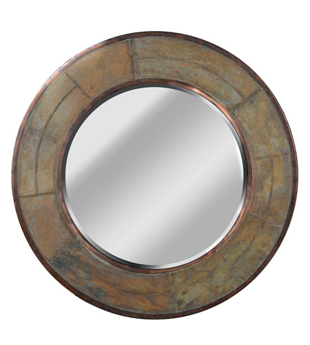Kenroy Lighting Keene Wall Mirror in Natural Slate   60087 photo