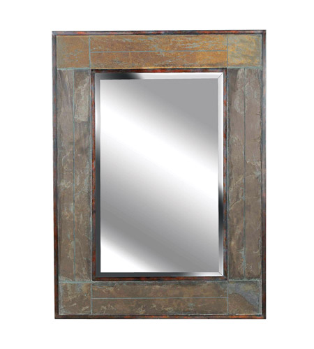 Kenroy Lighting 60089 White River 38 X 28 inch Natural Slate Wall Mirror photo